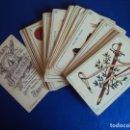 Barajas de cartas: (CHO-438)MAGNIFICA BARAJA ESPAÑOLA,CHOCOLATE JUNCOSA,48 NAIPES,COMPLETA,APROX.1870. Lote 124395671