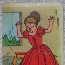 Barajas de cartas: CARTA Nº 2: SOLO RECIBIA MALOS TRATOS (BARAJA CARTAS. JUEGO DE PAREJAS. LA CENICIENTA. NAIPES COMAS). Lote 124480731