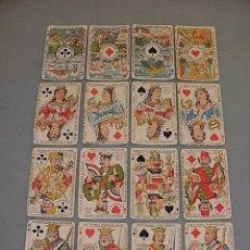 Barajas de cartas - RARISIMA BARAJA JEU DES ALLIES PROVERBES I GUERRA MUNDIAL BIERMANS CARDS BELGICA 1919 - 110195655