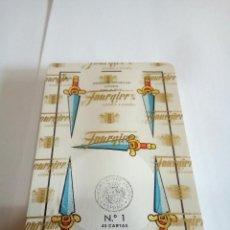 Barajas de cartas: BARAJAS DE CARTAS FOURNIER N°1 40 CARTAS AZUL CON SU PRECINTO. Lote 135135501