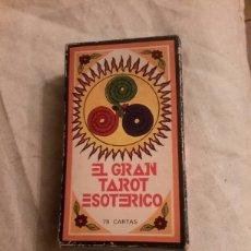 Barajas de cartas: EL GRAN TAROT ESOTERICO BARAJA DE CARTAS DE FOURNIER. Lote 124991232