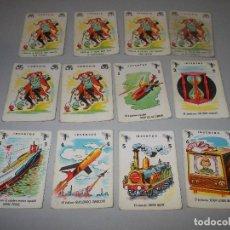 Barajas de cartas: LOTE 12 CARTAS. 6 COMODÍN, 6 INVENTOS. DESCONOZCO A QUE JUEGO SE CORRESPONDEN. Lote 125157659