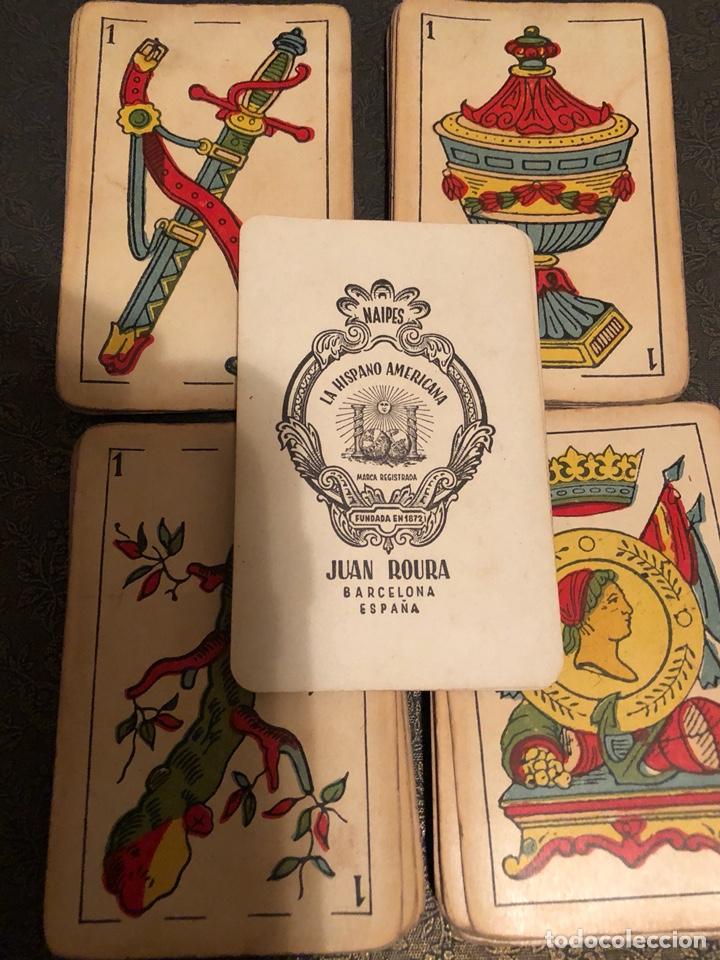 ANTIGUA BARAJA DE NAIPES LA HISPANO AMERICANA, DE JUAN ROURA, BARCELONA. (Juguetes y Juegos - Cartas y Naipes - Baraja Española)