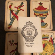 Barajas de cartas: ANTIGUA BARAJA DE NAIPES LA HISPANO AMERICANA, DE JUAN ROURA, BARCELONA.. Lote 125223624