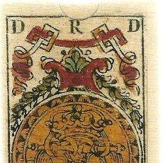 Barajas de cartas: ANTIGUA BARAJA VALENCIANA - ESPAÑA SIGLO XVIII (1778) - NUEVA - CERTIFICADO COLECCION FOURNIER. Lote 125264747