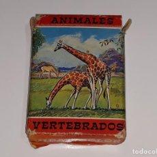 Barajas de cartas: ANTIGUA BARAJA JUEGO INFANTIL DE FOURNIER - VIDA Y COLOR - ANIMALES VERTEBRADOS - AÑO 1968. Lote 125845323
