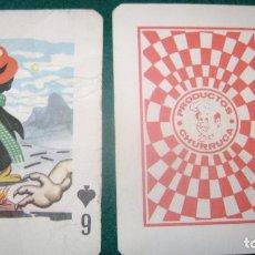 Barajas de cartas: PIPAS CHURRUCA BARAJA FRANCESA EL SEIS 6 DE PICAS . Lote 126212155