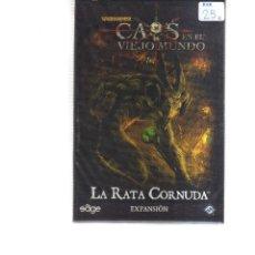 Barajas de cartas: CAOS EN EL VIEJO MUNDO LA RATA CORNUDA EXPANSION. Lote 195189820