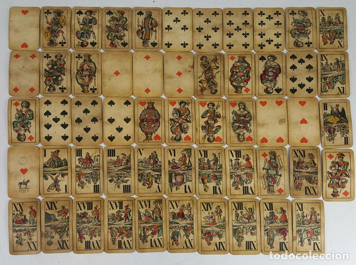 BARAJA DE CARTAS DEL TAROT. 54 CARTAS. COMPLETA. PIATNIK. VIENA. SIGLO XIX. (Juguetes y Juegos - Cartas y Naipes - Barajas Tarot)