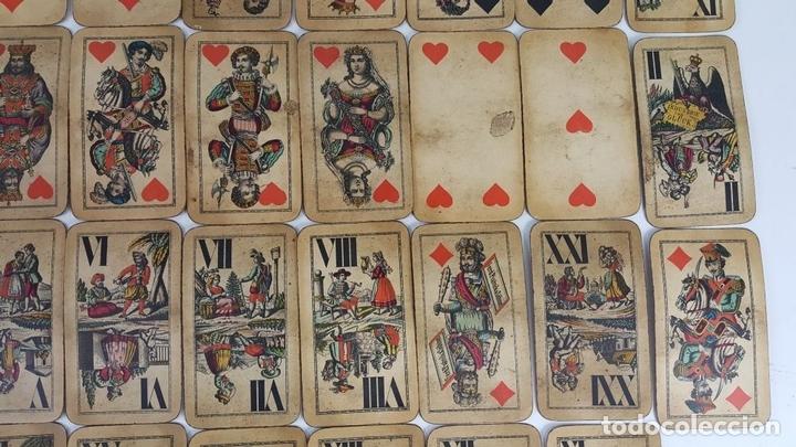 Barajas de cartas: BARAJA DE CARTAS DEL TAROT. 54 CARTAS. COMPLETA. PIATNIK. VIENA. SIGLO XIX. - Foto 3 - 151108785