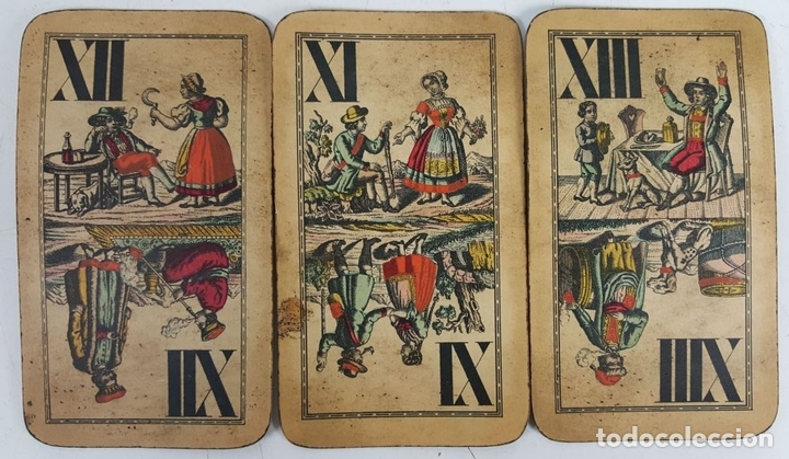 Barajas de cartas: BARAJA DE CARTAS DEL TAROT. 54 CARTAS. COMPLETA. PIATNIK. VIENA. SIGLO XIX. - Foto 7 - 151108785