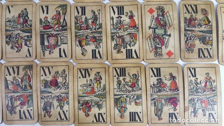 Barajas de cartas: BARAJA DE CARTAS DEL TAROT. 54 CARTAS. COMPLETA. PIATNIK. VIENA. SIGLO XIX. - Foto 10 - 151108785