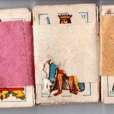 Barajas de cartas: LOTE DE 5 BARAJAS DE NAIPES INFANTILES COMPLETAS. MEDIDAS : 6 X 4 CM.. Lote 126640715