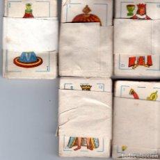 Barajas de cartas: LOTE DE 5 BARAJAS DE NAIPES INFANTILES COMPLETAS. MEDIDAS : 6 X 4 CM.. Lote 126640859