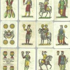 Barajas de cartas: ANTIGUA BARAJA NAPOLITANA - ITALIA SIGLO XX (1911) - NUEVA - CERT. COLECCION FOURNIER . Lote 126863551