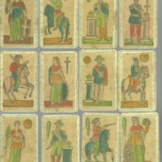 Barajas de cartas: ANTIGUA BARAJA ESPAÑOLA MINCHIALA ESTILO SICILIANO - ITALIA SIGLO XIX - NUEVA - CERT. COL. FOURNIER . Lote 126863991