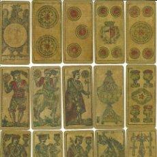 Barajas de cartas: ANTIGUA BARAJA PARA PIACENTINA - ITALIA SIGLO XIX (1884) - NUEVA - CERTIFICADO COLECCION FOURNIER . Lote 126864119
