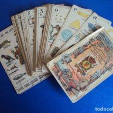 Barajas de cartas: (CHO-454)BARAJA RECREO INFANTIL. NAIPES INSTRUCTIVOS POR D. JAIME MARGARIT. PALAMÓS, GERONA, 1888.. Lote 126879271