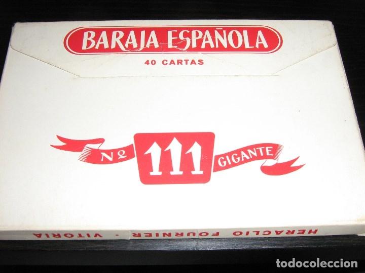 Barajas de cartas: BARAJA ESPAÑOLA GIGANTE - HERACLIO FOURNIER Nº 111 - Foto 2 - 84724480