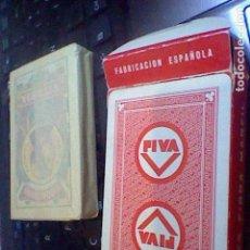 Barajas de cartas: NAIPES BARAJA FOURNIER 50 CARTAS PUBLICIDAD PIVA PRECINTADA. Lote 127491527