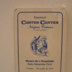 Barajas de cartas: BARAJA DE CARTAS ESPAÑOLA DE EXPOSICION: CARTES CANTEN - AJUNTAMENT DE HOSPITALET NAIPES COMAS. Lote 127857755