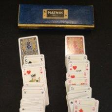 Barajas de cartas: JUEGO DE CARTAS ANTIGUO. PIATNIK WIEN. MINIATURA TAMAÑO CARTA 9CM X 5CM. Lote 127924646