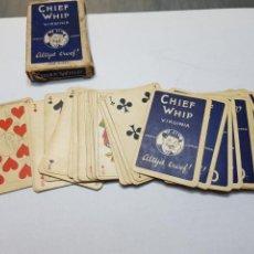 Barajas de cartas: BARAJA ANTIGUA CHIEF WHIP FINALES DE 1800 COMPLETA. Lote 128154632