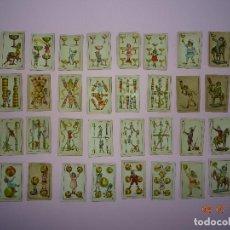 Barajas de cartas: ANTIGUA BARAJA NIÑAS Y NIÑOS JUEGOS Y JUGUETES DE CHOCOLATE HIJOS DE RAFAEL REIG DE JATIVA 1930-40S. Lote 128171659