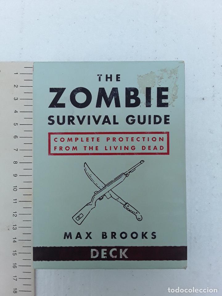 -THE ZOMBI SURVIVAL GUIDE-MAX BROOKS-POTTER STYLE-50 MAXICARTAS-FICHAS-INGLES (Juguetes y Juegos - Cartas y Naipes - Otras Barajas)