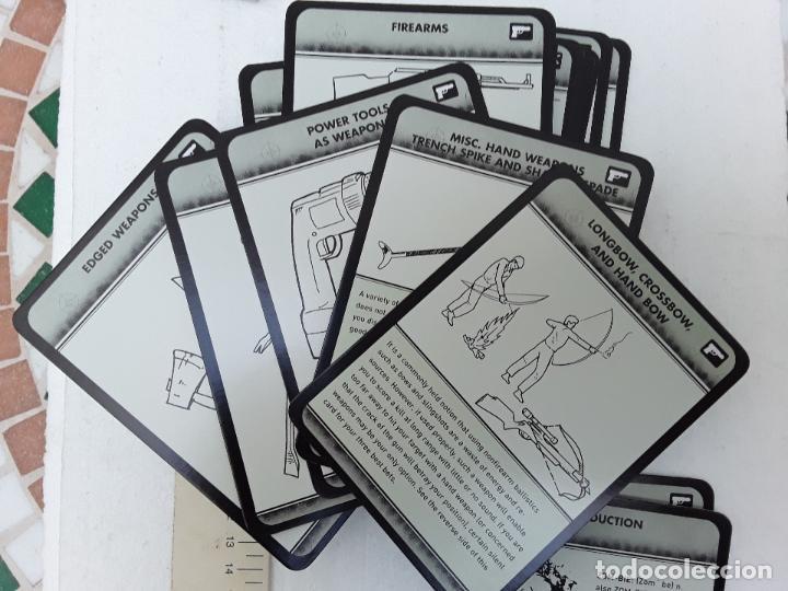 Barajas de cartas: -THE ZOMBI SURVIVAL GUIDE-MAX BROOKS-POTTER STYLE-50 MAXICARTAS-FICHAS-INGLES - Foto 4 - 128370295