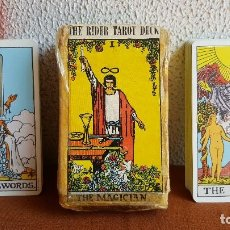 Barajas de cartas: CARTAS TAROT. THE RIDER TAROT DECK. THE MAGICIAN.. Lote 128450027