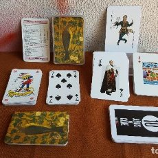 Barajas de cartas: 2 BARAJAS FRANCESAS CON MOTIVOS MUY CURIOSOS. MÍRALO!!. Lote 128452451
