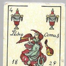 Barajas de cartas: NAIPES COMAS, PEDRO COMAS 1829, BARCELONA 1987. BARAJA PRECINTADA, CARTAS NUEVAS.. Lote 136387757