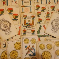 Barajas de cartas: ANTIGUA BARAJA DE CARTAS NAIPES UNA HOJA HISPANO IGUALADINA JUAN ROURA Nº 9 AMERICA ESPAÑA COMPLETA. Lote 128807871