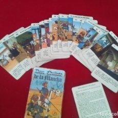 Barajas de cartas: ORIGINAL BARAJA INFANTIL CON LA HISTORIA DE DON QUIJOTE DE LA MANCHA POR FOURNIER 1979. Lote 128857887