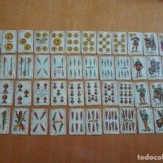 Barajas de cartas: 48 CARTAS. FÁBRICA DE SEBASTIÁN COMAS Y RICART, BARCELONA Nº 8 SUPERFINO.TIMBRE UNA PESETA 1918-1930. Lote 129219551