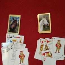 Barajas de cartas: 2 BARAJAS DE CARTAS, POKER, QUEBRACHO, FOURNIER. CABALLOS. Lote 129510115
