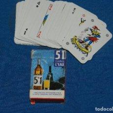 Barajas de cartas: (M) BARAJA DE POKER - 51 DANS L'EAU , 6 X 4 CM, SEÑALES DE USO. Lote 129647819