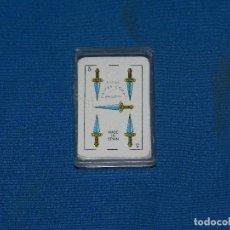 Barajas de cartas: (M) BARAJA ESPAÑOLA NEGSA NAIPES COMAS MADE IN SPAIN 4.5 X 3 CM SEÑALES DE USO. Lote 129648295