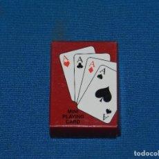 Barajas de cartas: 8M) BARAJA DE POKER 5,5 X 4 CM SEÑALES DE USO. Lote 129650983