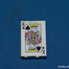 Barajas de cartas: (M) BARAJA DE POKER MADE IN CHINA 6 X 4 CM SEÑALES DE USO. Lote 129651135