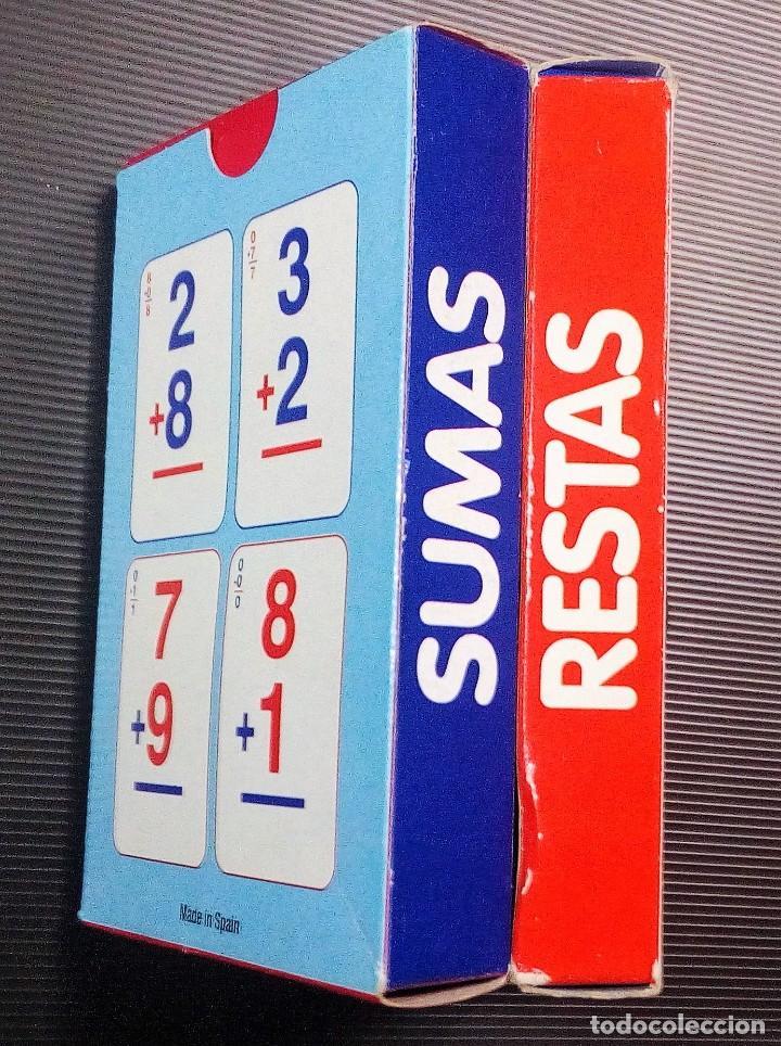 Barajas de cartas: JUEGO DE 2 BARAJAS EDUCATIVAS DE SUMAS Y RESTAS -VARITEMAS ESPAÑA- - Foto 3 - 210332992
