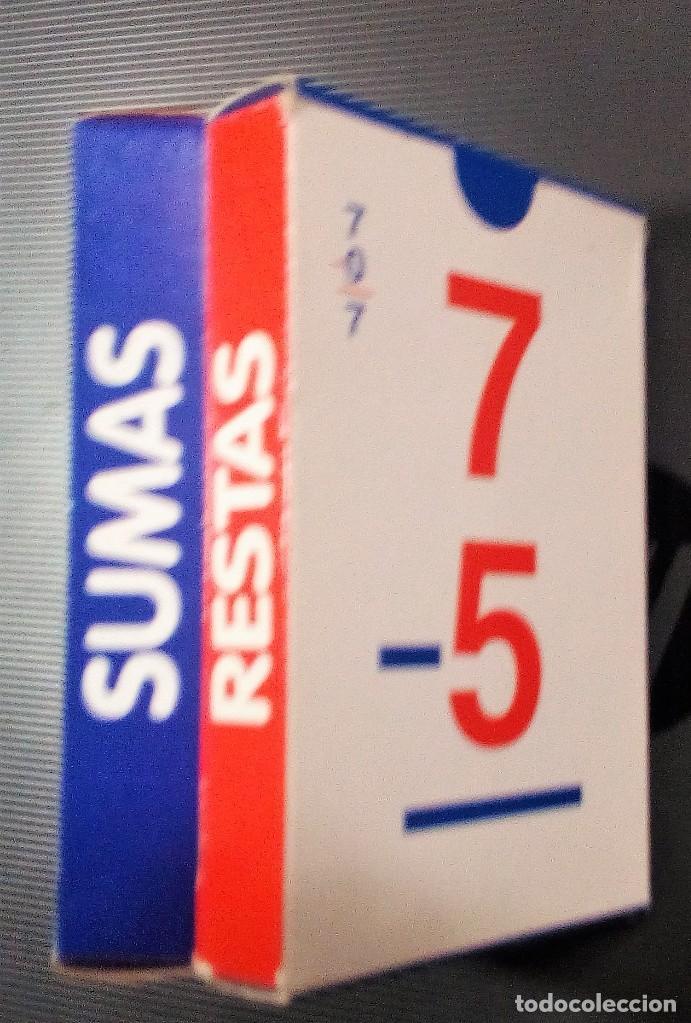 Barajas de cartas: JUEGO DE 2 BARAJAS EDUCATIVAS DE SUMAS Y RESTAS -VARITEMAS ESPAÑA- - Foto 4 - 210332992