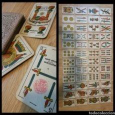 Barajas de cartas: BARAJA ESPAÑOLA AÑOS 30 L HISPANO-AMERICANA BARCELONA JUAN ROURA 14 . TIMBRE 1'25 PTS . 48 NAIPES .. Lote 130247898
