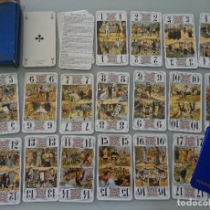 Barajas de cartas: ANTIGUA BARAJA DE CARTAS DE TAROT. PIONEER DUSERRE PARIS, FRANCIA. 200 GR. Lote 130397970