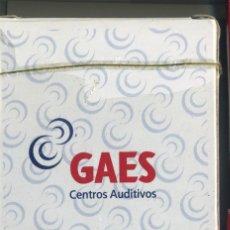 Barajas de cartas: BARAJA DE CARTAS PROPAGANDA DE GAES CENTROS AUDITIVOS PRECINTADA. Lote 146026598