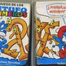 Barajas de cartas: PITUFOS JUEGO DE LOS NUMEROS BARAJA CARTAS EDICIONES RECREATIVAS 40 NAIPES . Lote 130526074