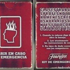 Jeux de cartes: KIT DE EMERGENCIA BARAJA CARTAS FOURNIER 50 NAIPES. Lote 130527170