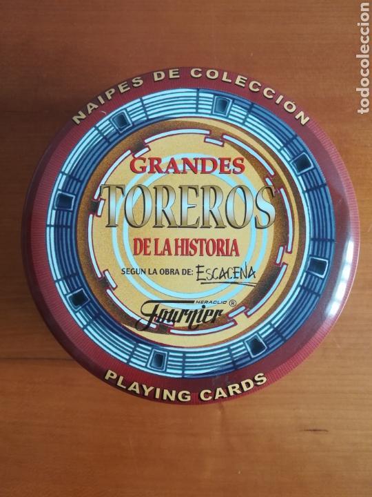 BARAJA FOURNIER GRANDES TOREROS DE LA HISTORIA SEGÚN ESCACENA - CAJA PLAZA DE TOROS (Juguetes y Juegos - Cartas y Naipes - Baraja Española)