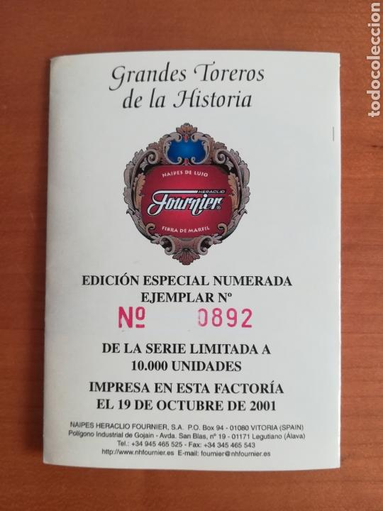 Barajas de cartas: Baraja Fournier Grandes toreros de la historia según Escacena - Caja plaza de toros - Foto 40 - 130617590